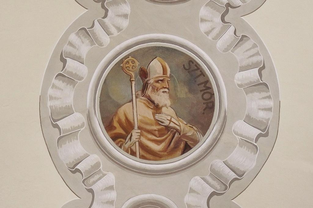 Szent Mór ábrázolás a pécsi Lyceum templom mennyezetén