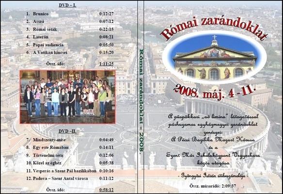 2008. DVD-Római zarándoklat - 2008.