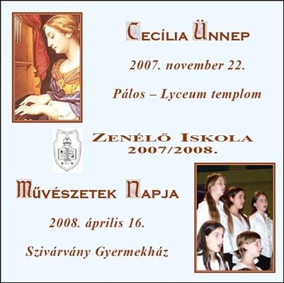 2007. CD-Zenélő Iskola - 2007 - 2008.