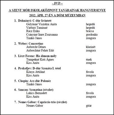 2012. Tanári Hgv. 2012. DVD